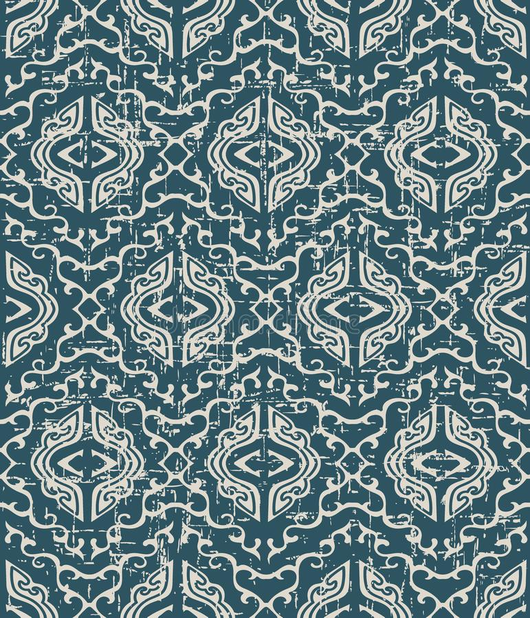 Getragenes heraus antikes nahtloses Hintergrundspiralen-Kreuzkaleidoskop g stock abbildung
