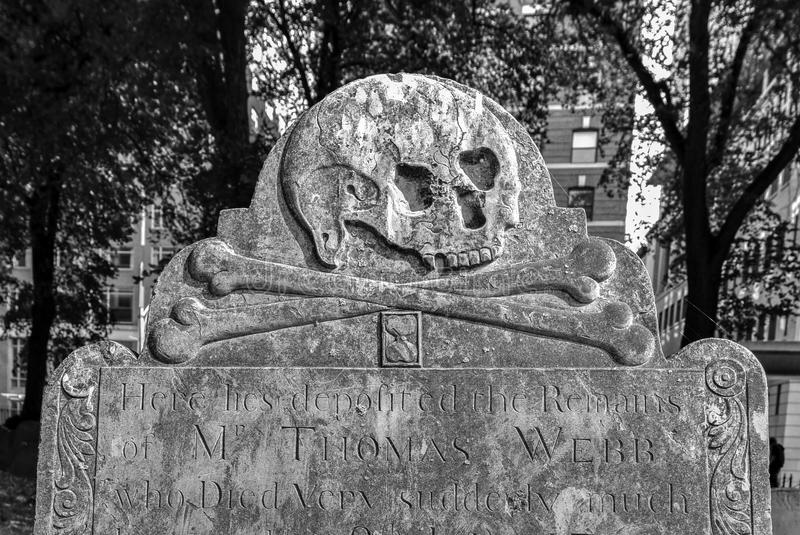 Getreidespeicher-Friedhof - Boston, Massachusetts stockfotografie
