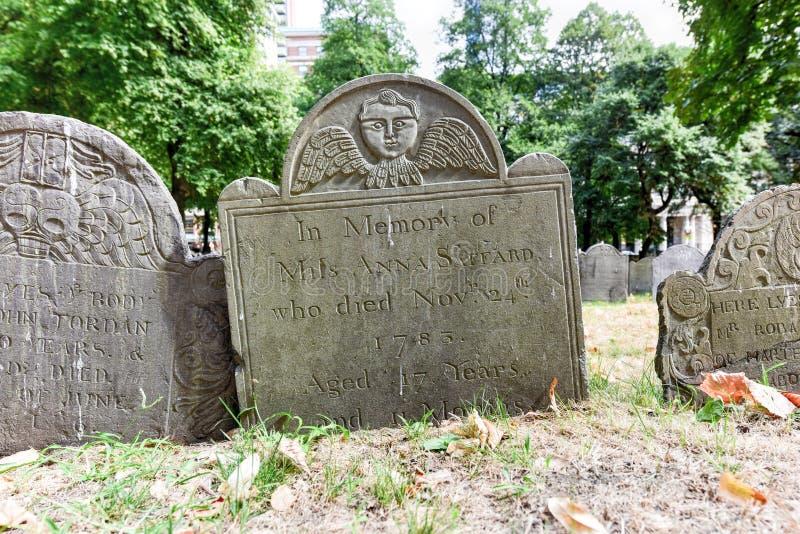 Getreidespeicher-Friedhof - Boston, Massachusetts lizenzfreies stockbild