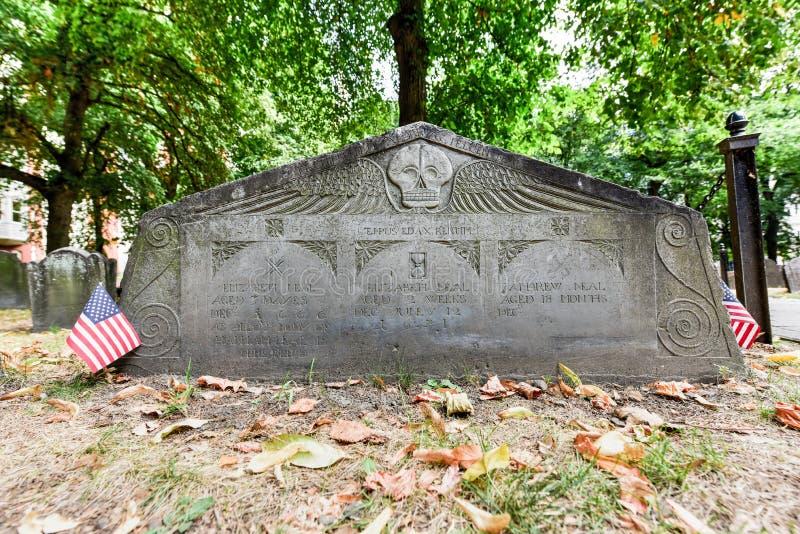 Getreidespeicher-Friedhof - Boston, Massachusetts lizenzfreie stockbilder