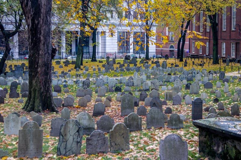 Getreidespeicher-Friedhofskirchhof - Boston, Massachusetts, USA stockfotografie
