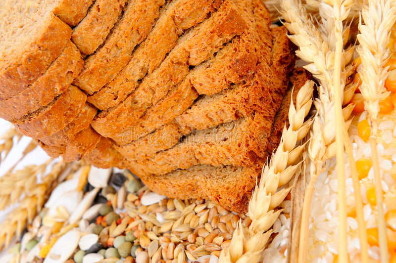 Getreidestartwerte für zufallsgenerator und Weizenohren stockfotografie