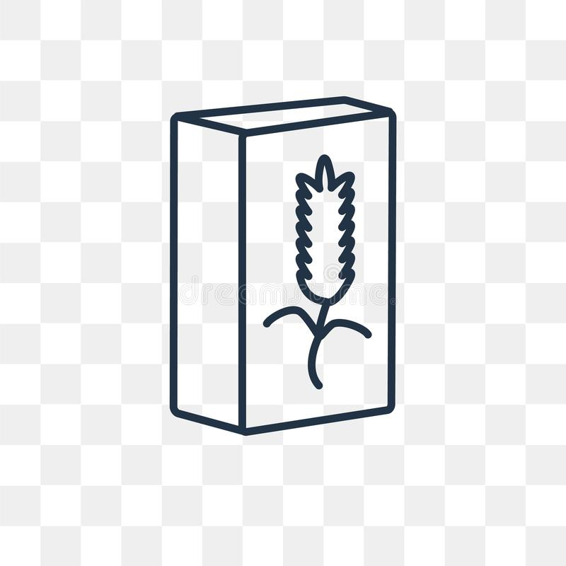 Getreidevektorikone lokalisiert auf transparentem Hintergrund, lineares C vektor abbildung