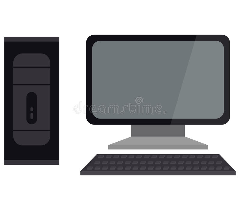 Getrennt über weißer Hintergrundbildschirmanzeige lizenzfreie abbildung