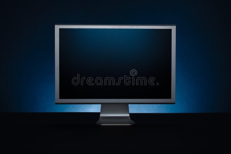 Getrennt über weißer Hintergrundbildschirmanzeige stockbild