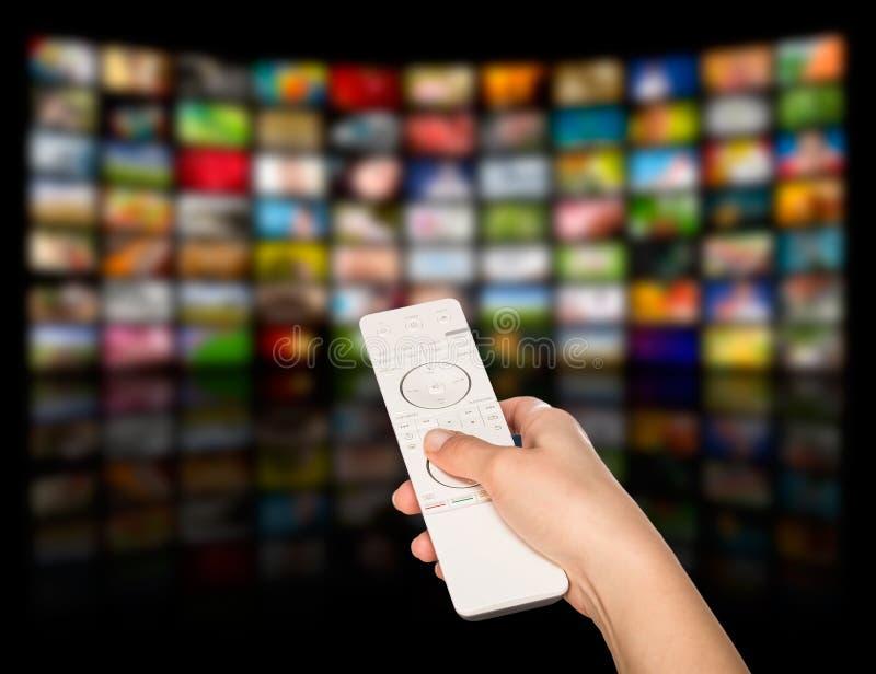 Getrennt worden auf weißem Hintergrund Fernsehfilmplatten stockbild