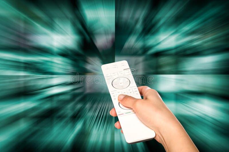 Getrennt worden auf weißem Hintergrund Fernsehfilmplatten lizenzfreie stockbilder