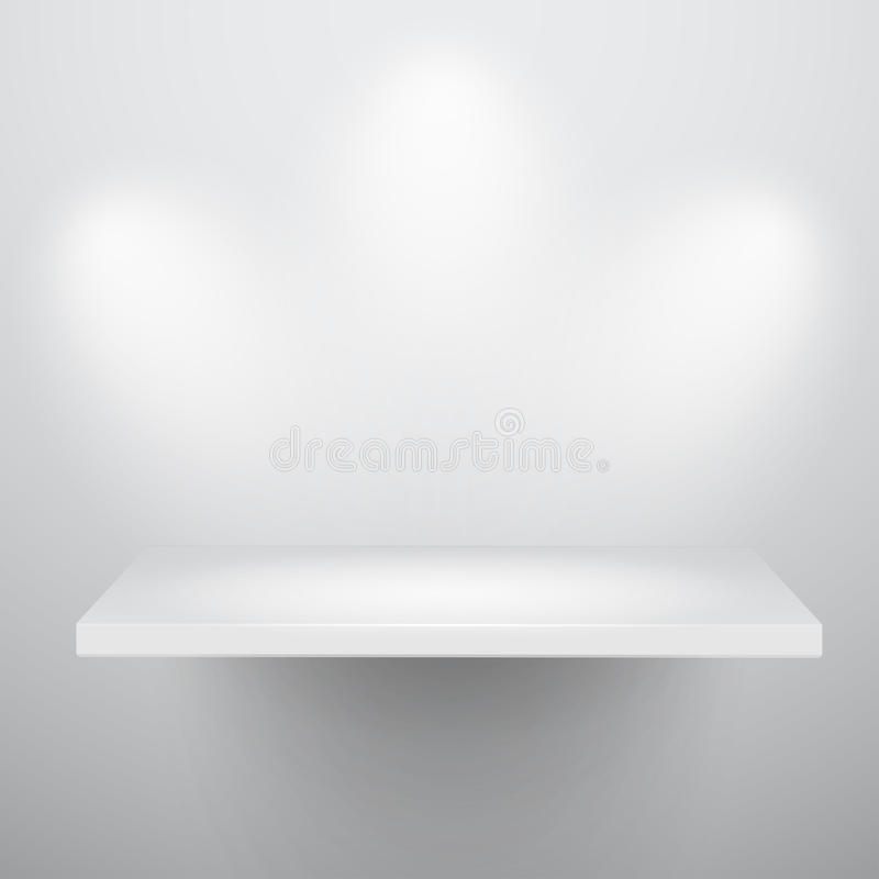 getrennte 3d leeren Regal für Ausstellung stock abbildung