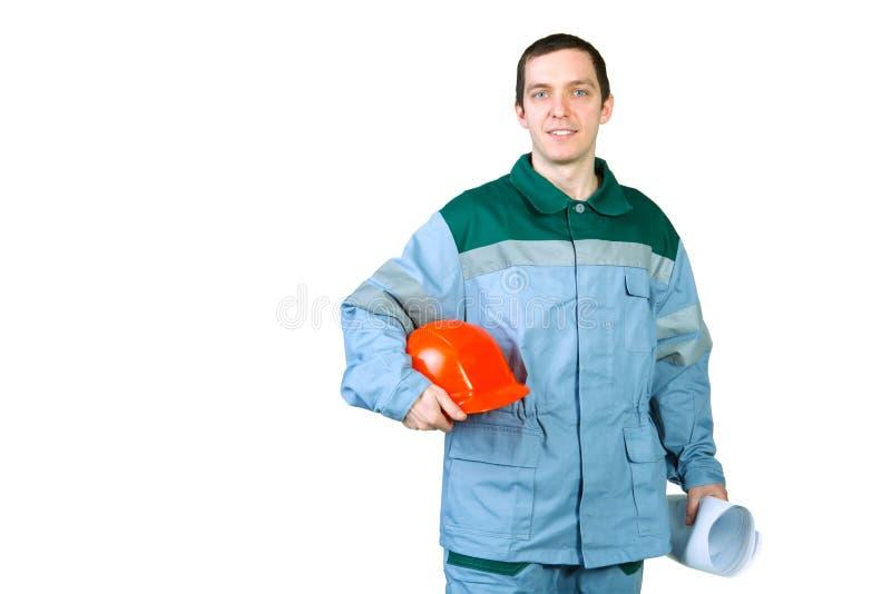 Download Getrennte Abbildung Der Jungen Arbeitskraft Stockfoto - Bild von orange, erbauer: 26369448