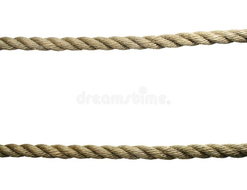 Getrennte alte Seile lizenzfreie stockfotos