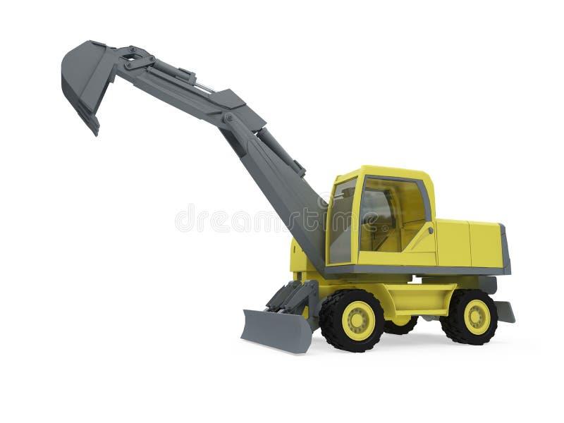 Getrennte Ansicht des Aufbaus LKW stock abbildung