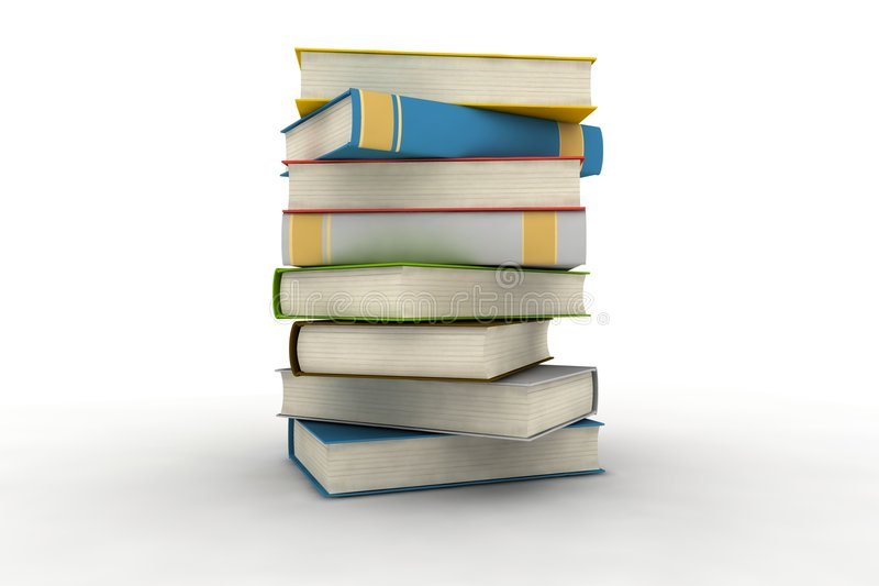 Getrennte Bücher stock abbildung