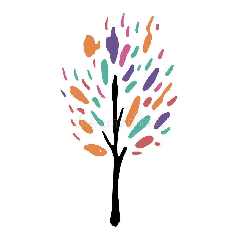 Getrennte Baum-Abbildung stock abbildung