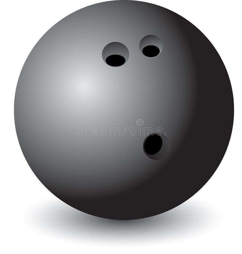 Getrennte Bowlingspielkugel stock abbildung