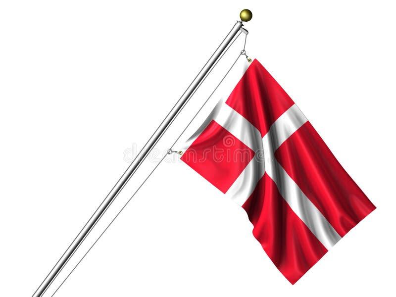 Getrennte dänische Markierungsfahne stock abbildung