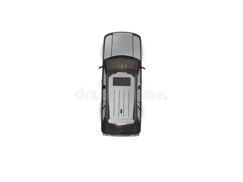 Getrennte Draufsicht des schwarzen Autos stock abbildung