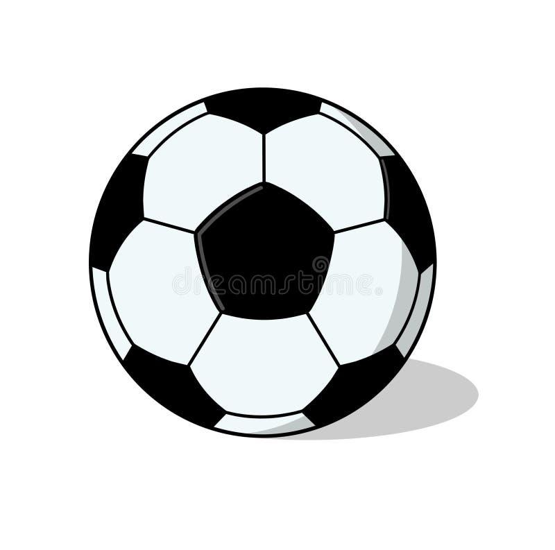 Getrennte Fußballkugel Abbildung Lizenzfreies Stockbild