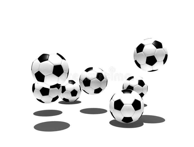 Getrennte Fußballkugeln stock abbildung