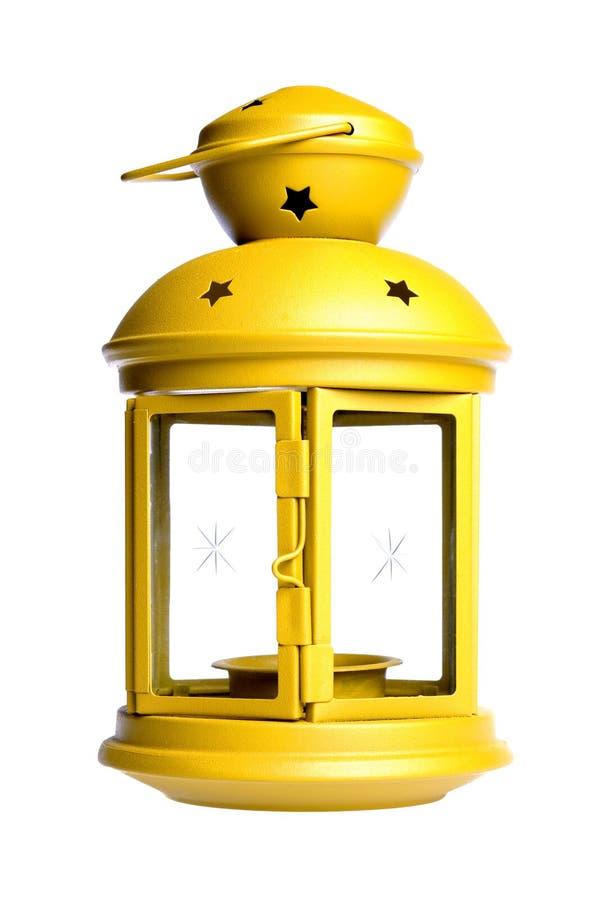 Getrennte gelbe Laterne lizenzfreies stockfoto