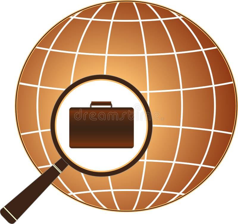 Getrennte Ikonensymbol-Beschäftigungmitte lizenzfreie abbildung