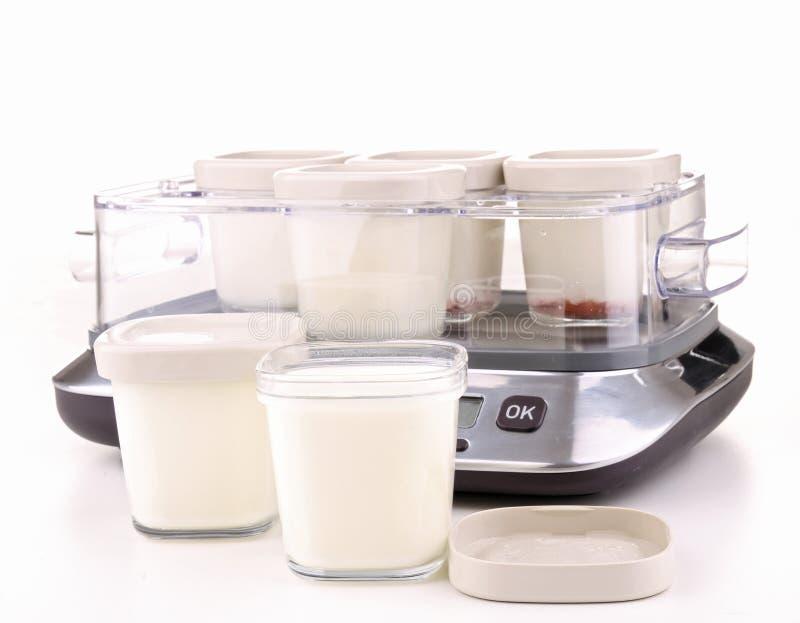 Getrennte Joghurtmaschine lizenzfreie stockfotos