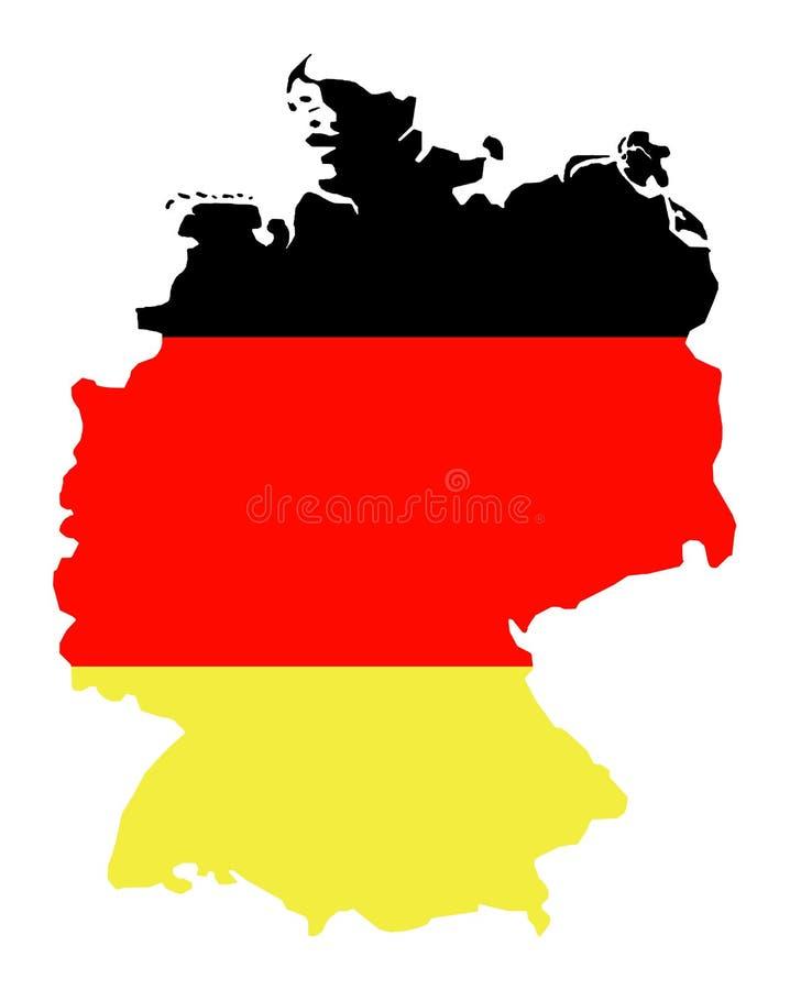 Getrennte Karte von Deutschland 01 stockbild