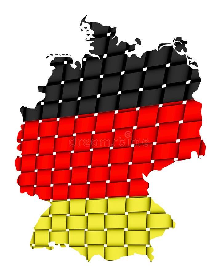 Getrennte Karte von Deutschland 09 stockfotografie