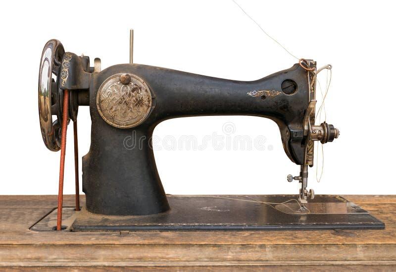 Getrennte Nähmaschine der Antike stockfotos
