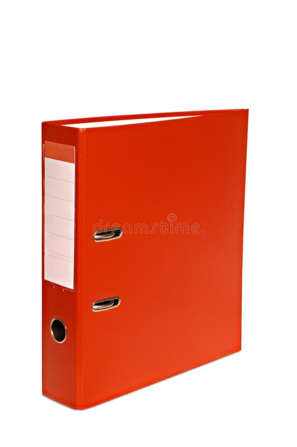 Getrennte rote Datei stockfoto