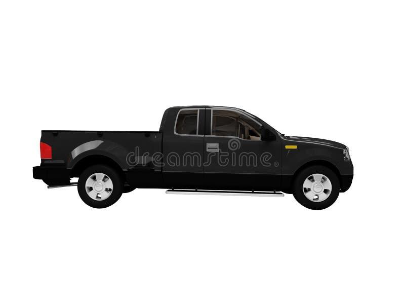 Getrennte Seitenansicht des schwarzen Autos lizenzfreie abbildung