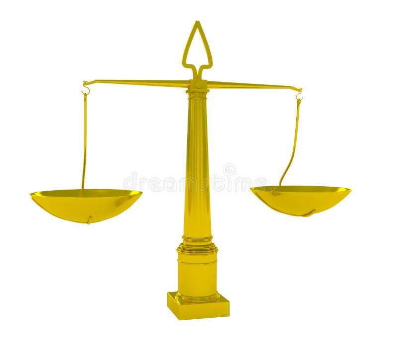 Getrennte Skalen von Gerechtigkeit lizenzfreie abbildung