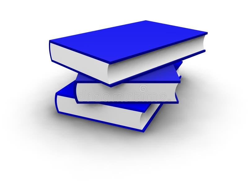 Getrennte Stapel Farbige Blaue Bücher Stock Abbildung - Illustration ...