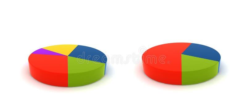 Getrennte Statistiken stock abbildung