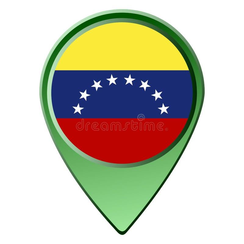 Getrennte venezuelanische Markierungsfahne vektor abbildung