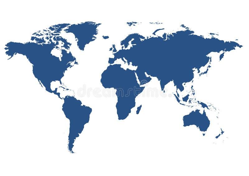 Getrennte Weltkarte stock abbildung