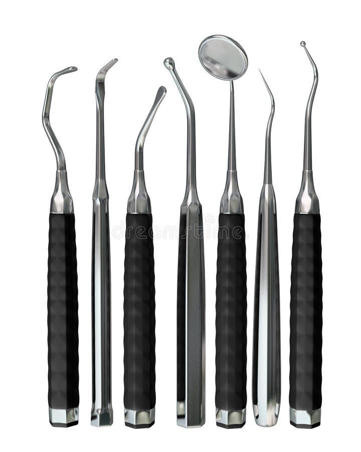 Getrennte Zahnarzthilfsmittel 7 stock abbildung