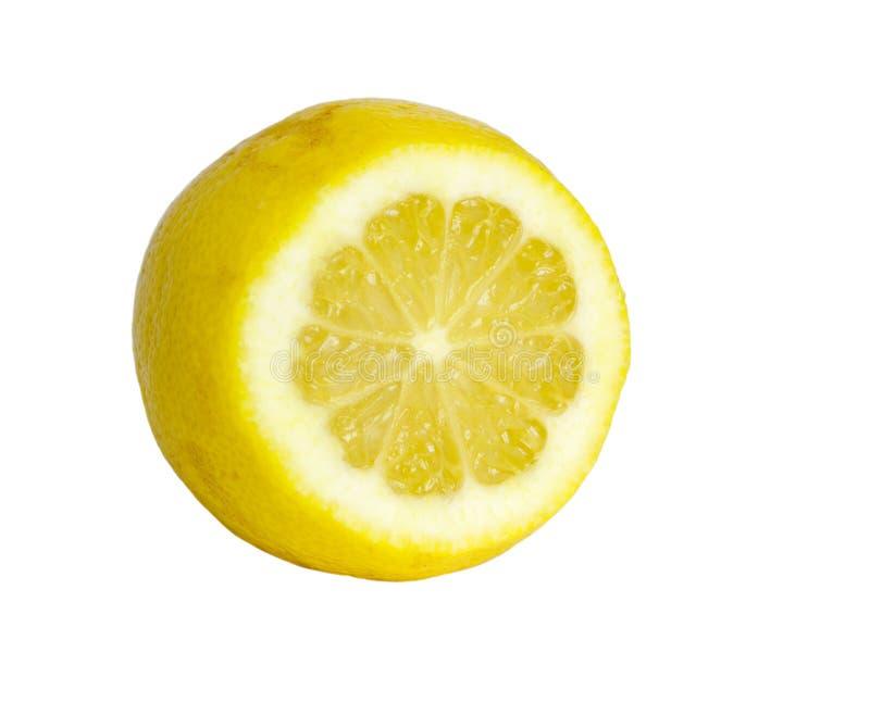 Getrennte Zitrone lizenzfreie stockfotografie