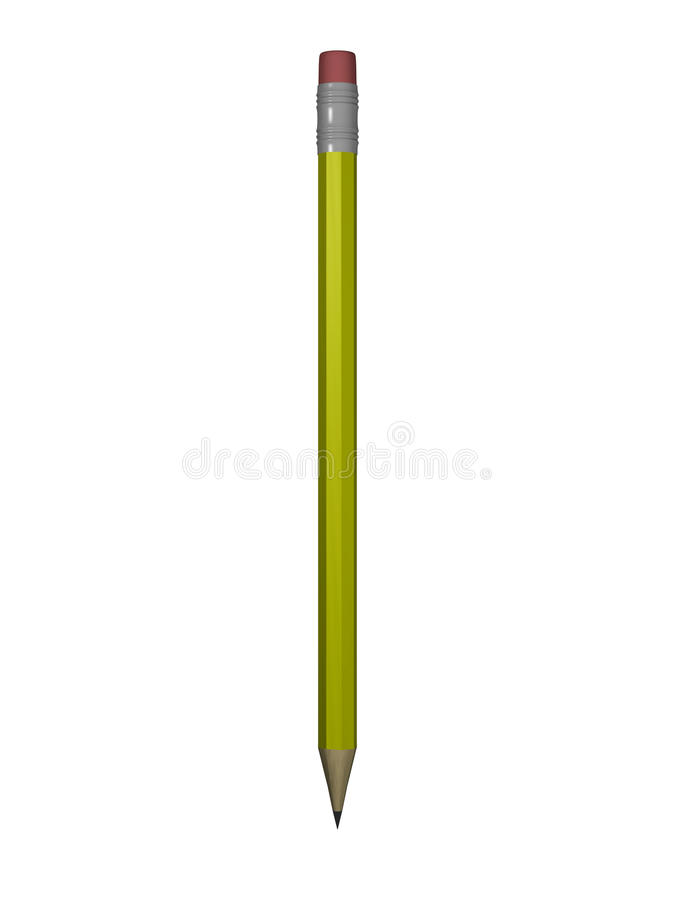 Getrennter Bleistift 3D übertragen lizenzfreie abbildung