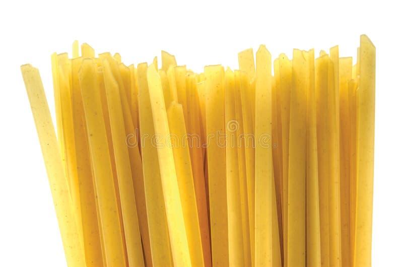 Getrennter flacher tagliatelle Hintergrund lizenzfreies stockbild