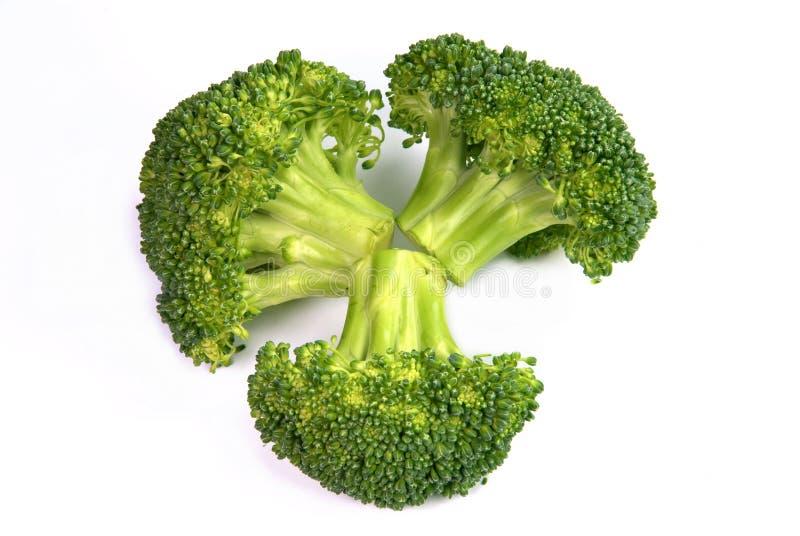 Getrennter frischer Brokkoli stockfotos