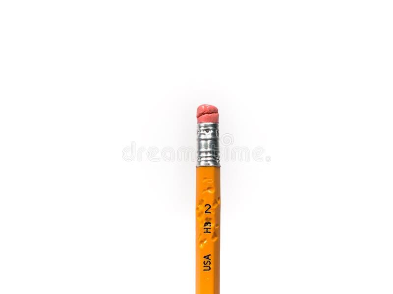 Getrennter gekauter HB Nr. 2 Bleistift stockfotografie