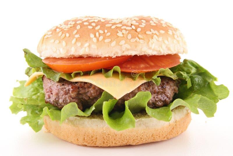 Getrennter Hamburger lizenzfreie stockfotos