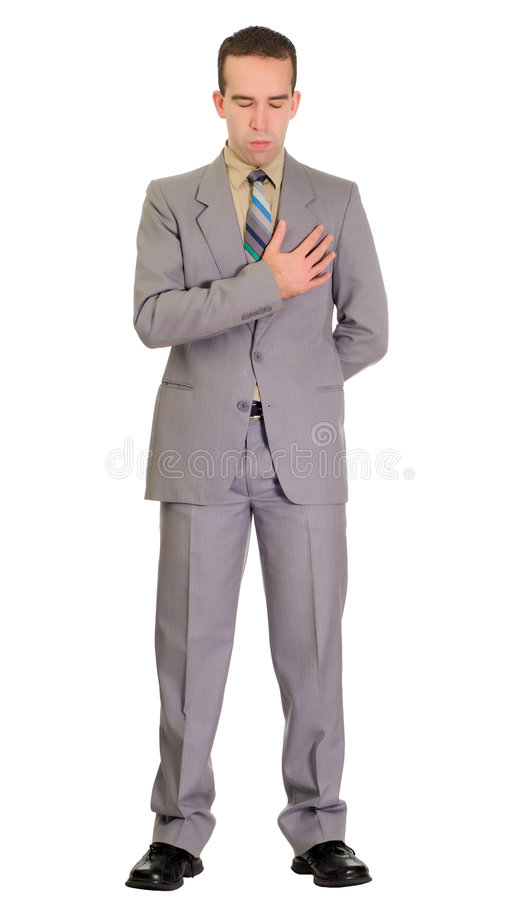 Getrennter Mann am Begräbnis stockfotos