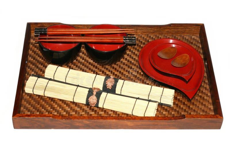 Getrennter Portable, der Chineseset speist lizenzfreie stockbilder