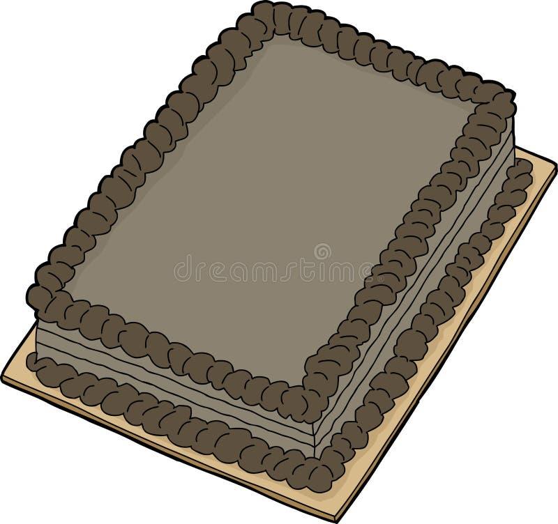 Getrennter Schokoladenkuchen vektor abbildung