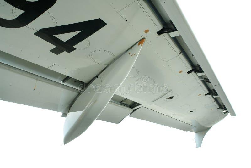 Getrennter Sonderkommandoverkehrsflugzeugflügel stockbilder