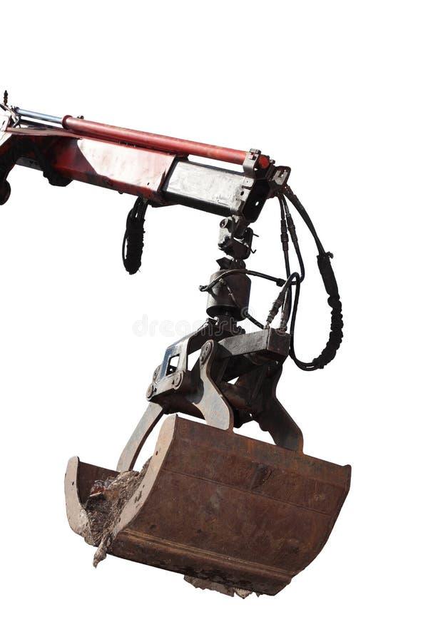 Getrennter Wannengräber einer Planierraupe lizenzfreies stockfoto