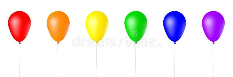 Getrenntes 3d übertrug Ballone stock abbildung
