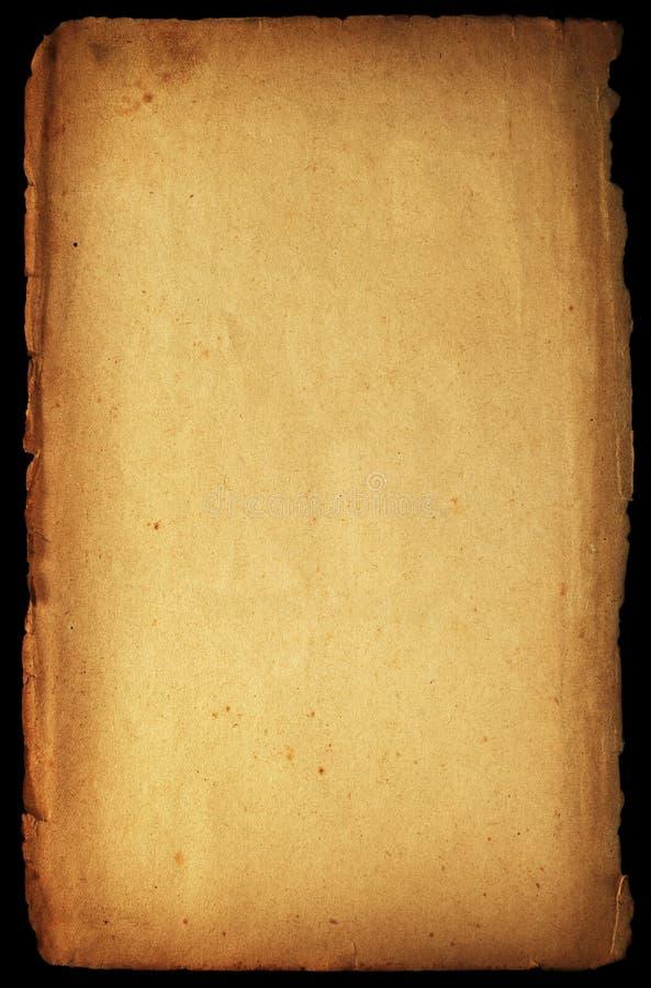 Getrenntes altmodisches Papier stockbild
