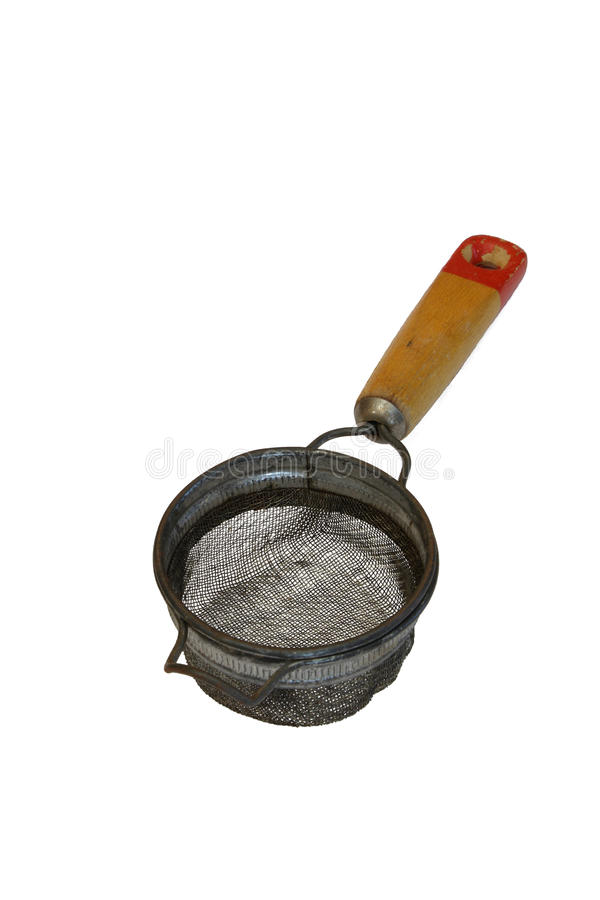 Getrenntes antikes Küchesieb lizenzfreies stockfoto